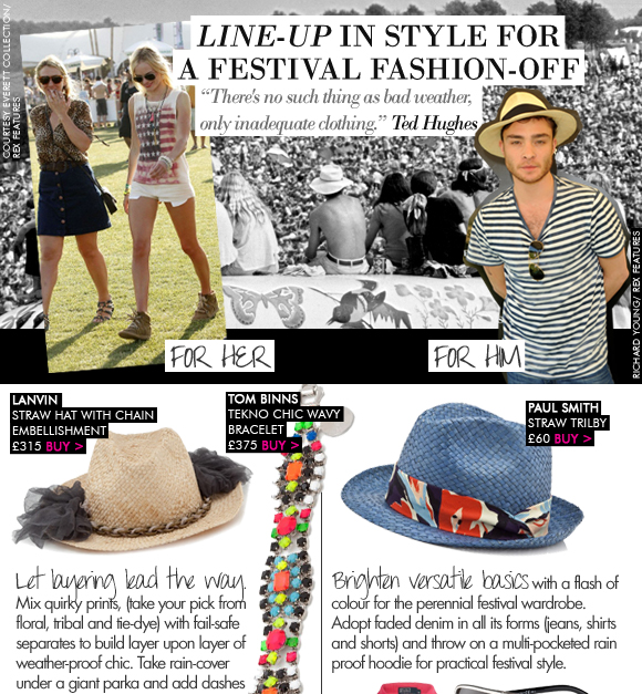 Line-up in style for a festival fashion-off